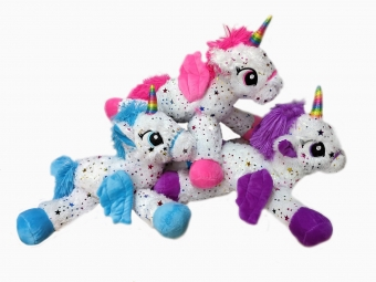 Unicorn lying down Stars T6 55cm