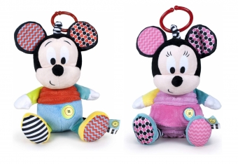 Mickey & Minnie T2 25cm hanging rattle